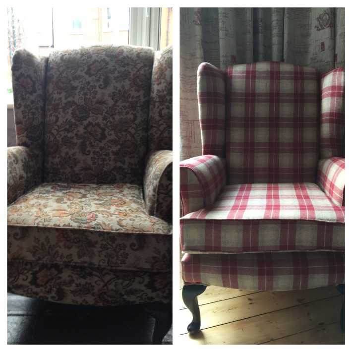 Keeping it local: Upcycling my wing back chairs