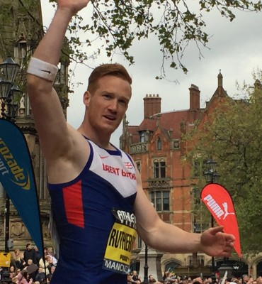 Greg Rutherford after winning Great City Games