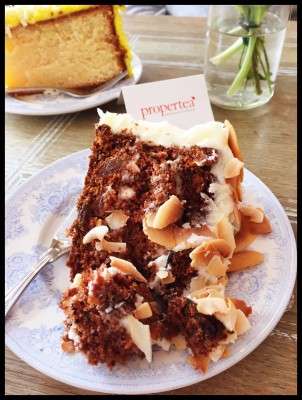 Carrot Cake at Proper Tea