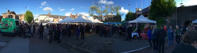 Panoramic of Levy night market