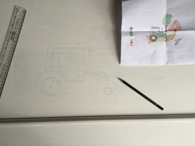 Copying John Deere tractor design