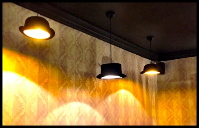 Bowler hat lights at Annies