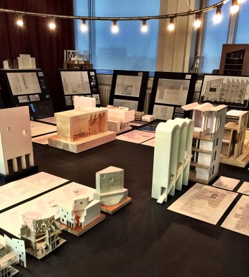 Architecture degree show, final year