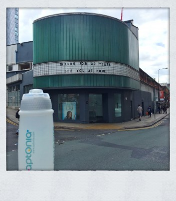 Water bottle outside the Corner House Manchester