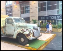Rusty van at The Kitchens Manchester