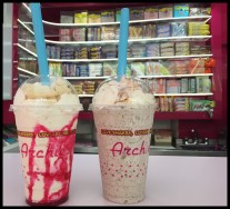 Milkshakes on the counter at Archie's