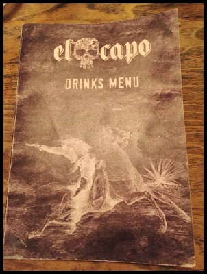 Drinks menu cover