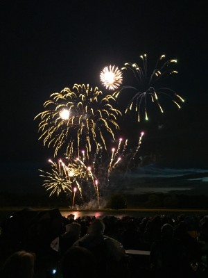 Fireworks over the lake at Tatton Park picnic concert