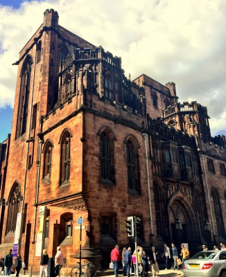 The John Rylands Library from Deansgate