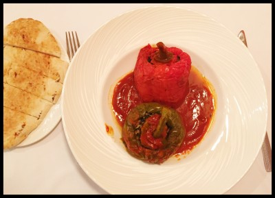 Dolma Peppers with pitta at Station 22