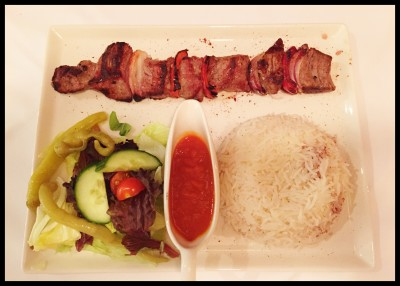 Lamb Shish Kebab at Station 22