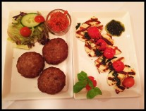Armenian Hash Browns and Halloumi - starters at Station 22