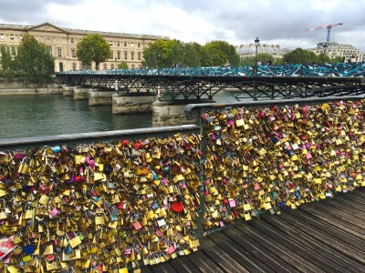 Love locks at Point des Art, Paris