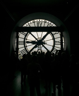 View from inside the clock, Musee D'Orsay, Paris