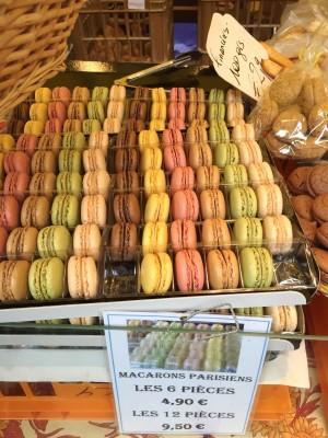 Macarons at Marche Bastille, Paris