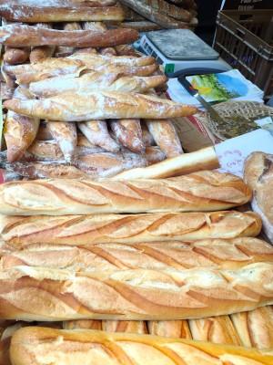 Baguettes at Marche Bastille, Paris