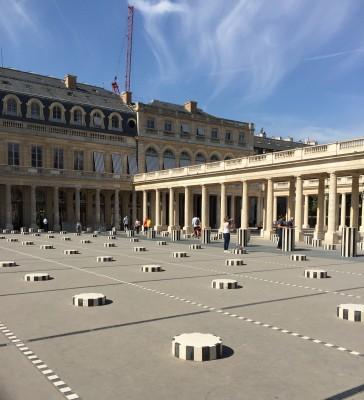 Daniel Buren's black and white columns, Paris