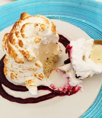 Baked Alaska, with a spicy kick at Manchester Food and Drink Festival Ice Cream Banquet