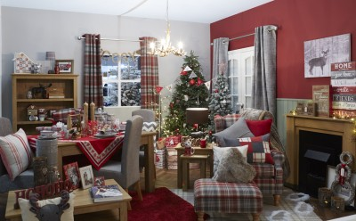 Festive room, Ideal Home Show at Christmas, Manchester