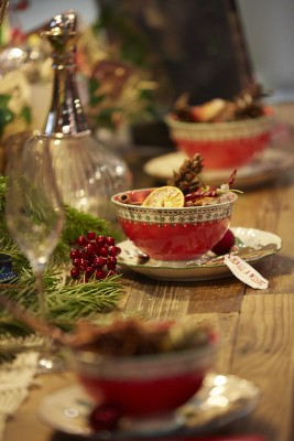 Festive table, Ideal Home Show at Christmas, Manchester
