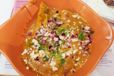 Pasilla Chicken Enchilada at Wahaca Manchester