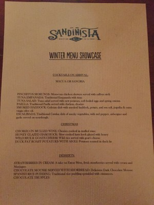 Winter Menu Showcase at Sandinista Manchester