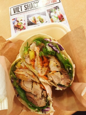 Viet Chicken Wrap, Viet Shack, Arndale Food Market, Manchester
