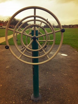 Exercise machines in Green Bank Park, Levenshulme