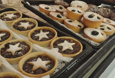 Giant mince pies, Ideal Home Show at Christmas