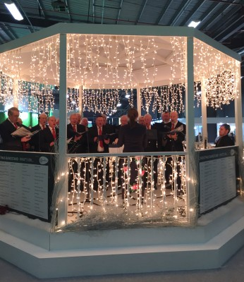 Go Compare bandstand, Ideal Home Show at Christmas