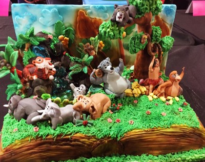 The Jungle Book decorated cake, Cake and Bake Show