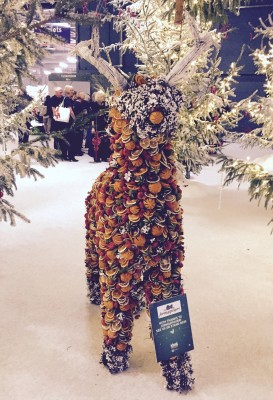 Pot pourri reindeer, Ideal Home Show at Christmas