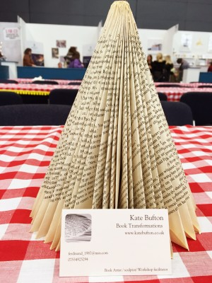 Book folding - Christmas tree, The Handmade Christmas Fair, Manchester