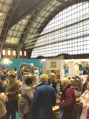 Shopping under the railway arch, The Handmade Christmas Fair, Manchester