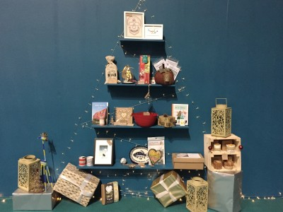 Crafty Christmas tree, The Handmade Christmas Fair, Manchester