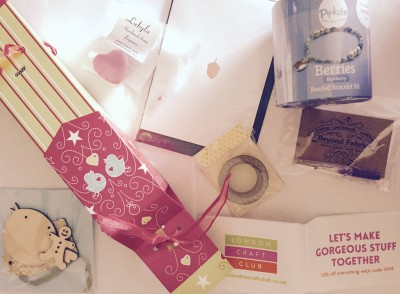 Blogger goody bag, The Handmade Christmas Fair, Manchester