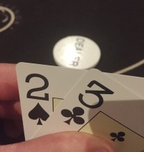 A poor poker hand, Grosvenor Casino, Didsbury