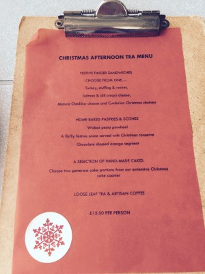 Christmas Afternoon Tea Menu - And The Dish Ran Away With The Spoon