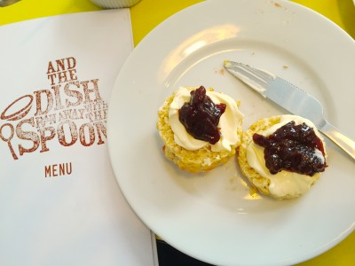 Scones and Christmas jam from And The Dish Ran Away With The Spoon