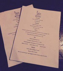 The Buttery menu at POD Levenshulme