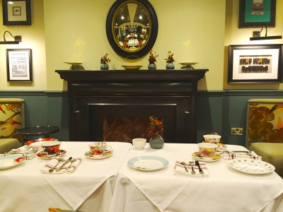 The table is set for afternoon tea at King Street Townhouse Manchester