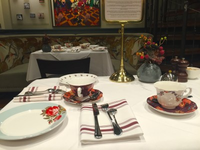 Place setting for afternoon tea at King Street Townhouse, Manchester
