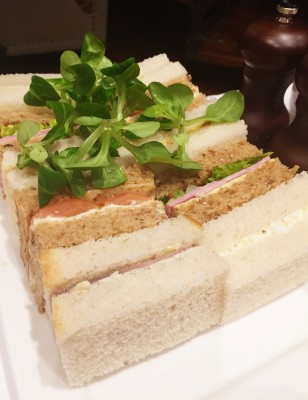 Huge plate of sandwiches at King Street Townhouse, Manchester
