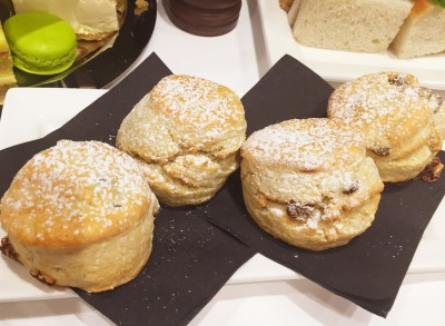 A separate plate of scones, afternoon tea, King Street Townhouse, Manchester