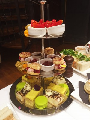 The sweet treats, afternoon tea, King Street Townhouse, Manchester