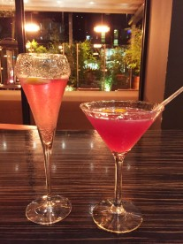 Romance & Virgin Cosmo cocktails, Zouk, Manchester
