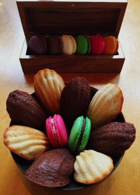 Macaroons and madelines, Manchester House restaurant