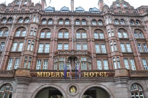 The Midland Hotel Manchester. Entrance to the building