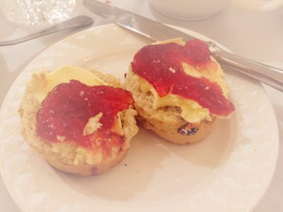 Scones, cream and jam at the Midland Hotel, Manchester